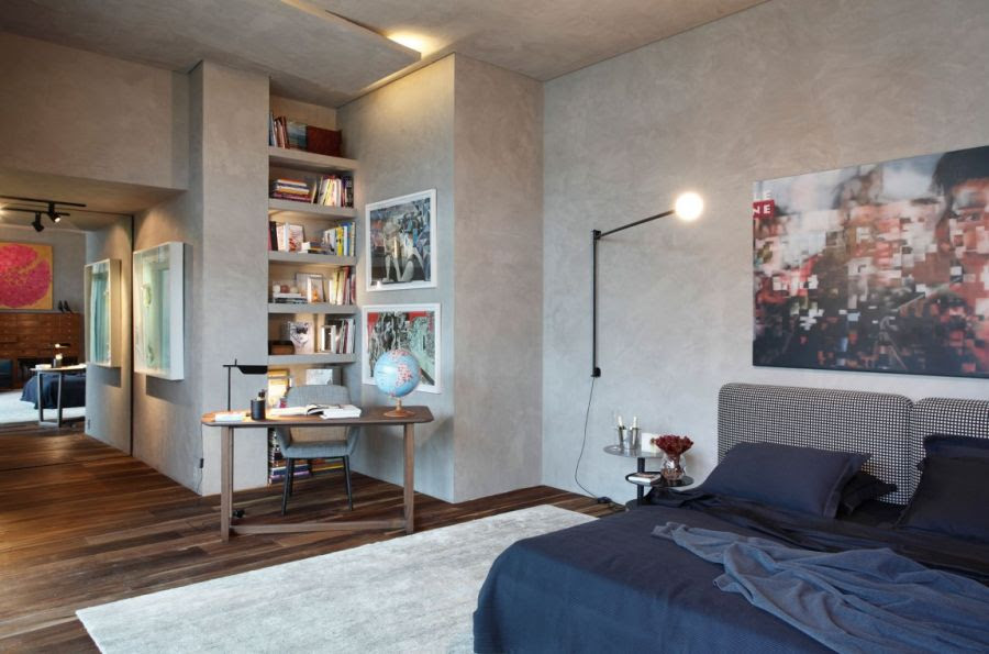Art-Filled Bachelor Pad With Cool Design