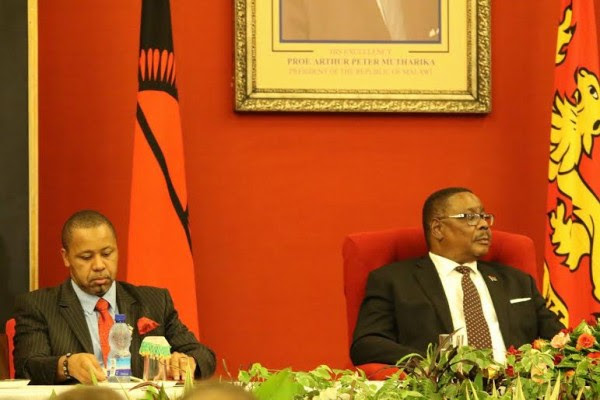 Mind the gap: President Mutharika and vice president Chilima