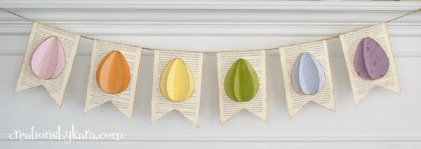 easter craft-Easter egg banner