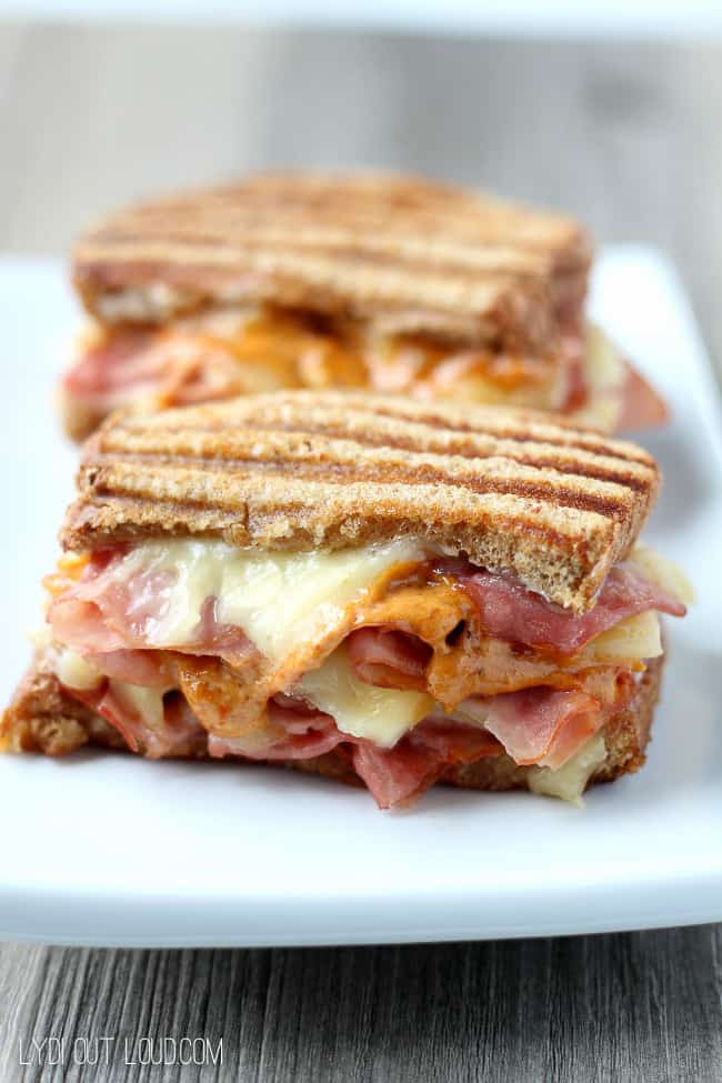 Sundays At Home Feature Ham Panini recipe from Lydi Out Loud