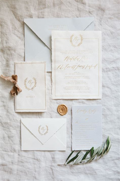 Handmade Paper Invitations // Calligraphy and Design by