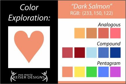 Eva Maria Keiser Designs: Explore Color: Dark Salmon