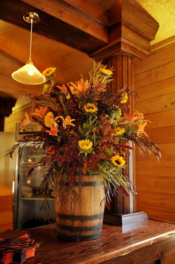 rustic fall floral arrangement