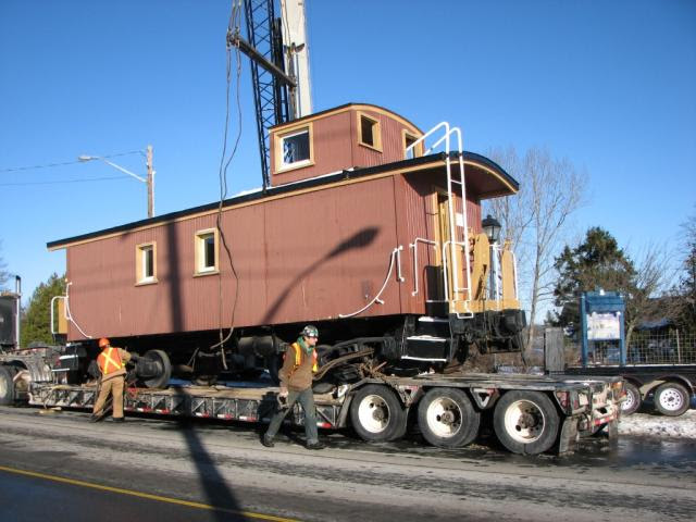 Grand Bay Caboose Ready to Move