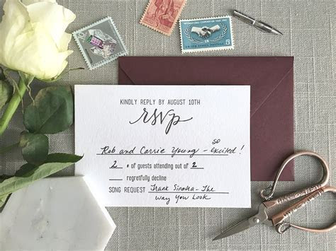 6 Common Questions about Wedding RSVP Cards ? ElisaAnne