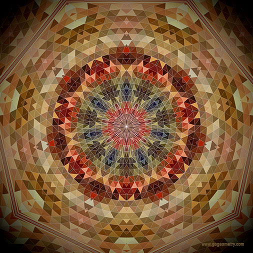 Geometric Art: Heptagon Kaleidoscope, Circular and Triangular Composition, iPad Apps, Mobile.
