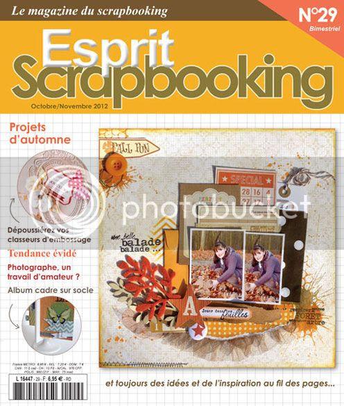 La couverture - Esprit Scrapbooking N°29