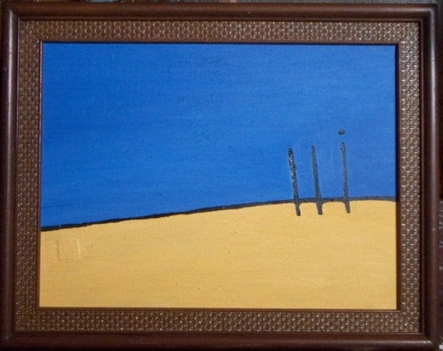 "Original Oil Painting ""Minimalist Landscape"""