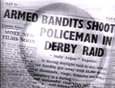 Send for Paul Temple: Newspaper headline