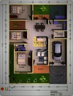 contoh desain rumah minimalis ukuran 8 x 12 - berpenghuni