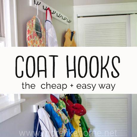 diy coat racks cheap