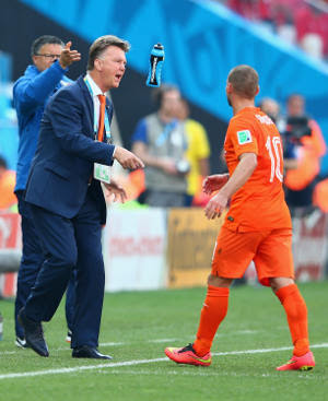 louis van gaal on the sideline