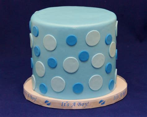 Hues of Blue Polka Dot baby shower cake     Cake in Cup NY