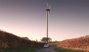 Our Swaffham 2 turbine at sunset