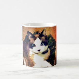snowshoe mesmerizing eyes kitty classic white coffee mug