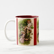Cupid & Couple Vintage Valentine's Mug