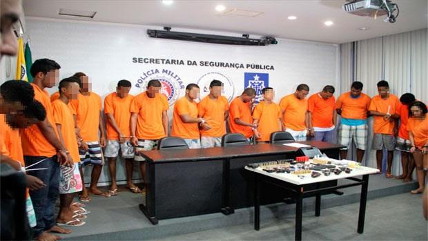 Operação prende 18 suspeitos de homicídios e tráfico de drogas em Camaçari (Foto: Divulgação/SSP-BA)
