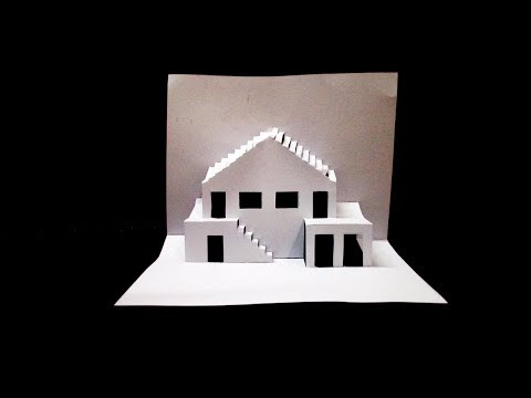 DIY Home Pop up Card-how to make DIY 3D POP UP house card-house pop up card template