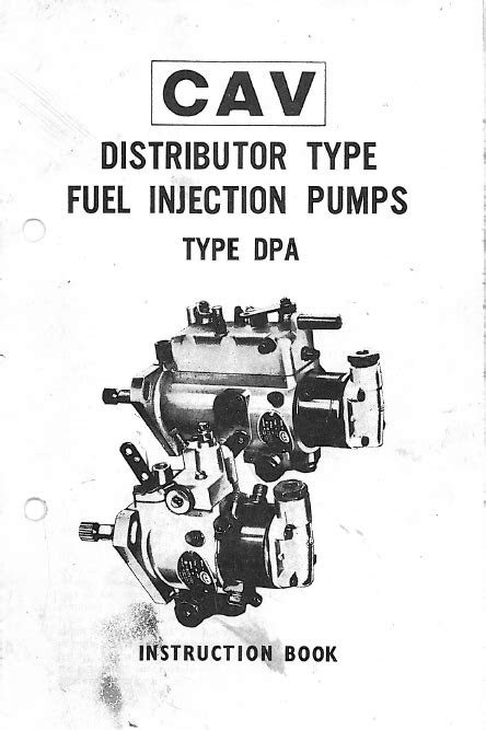 Lucas CAV DPA Injection Pump Instruction Book - Seaboard