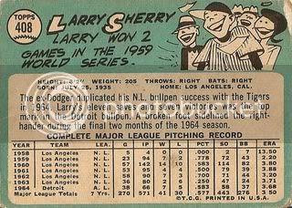 #408 Larry Sherry (back)