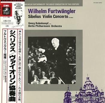 FURTWANGLER, WILHELM sibelius; violin concert