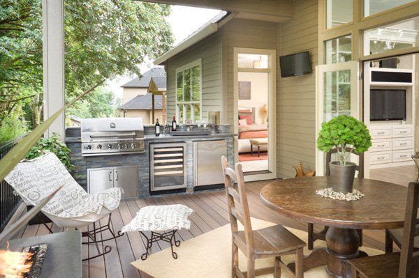 Small backyard kitchen patio ideas