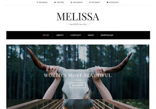 Melissa Blogger Template