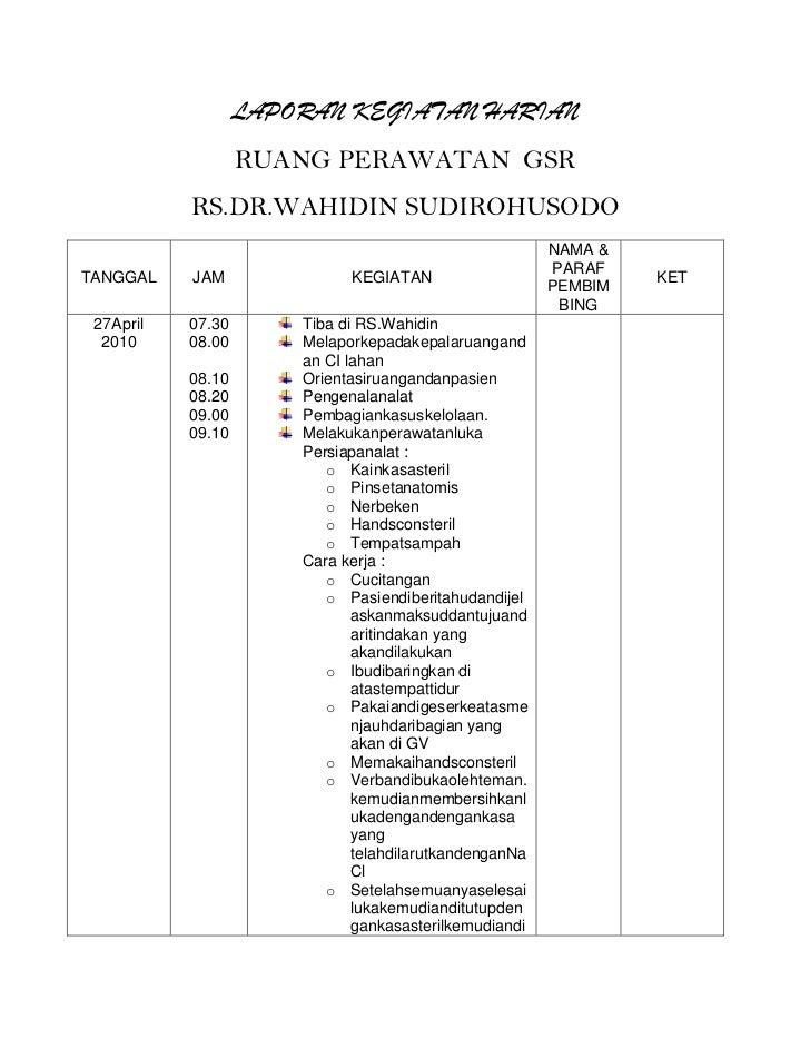 Contoh Format Laporan Bulanan Hrd Seputar Laporan
