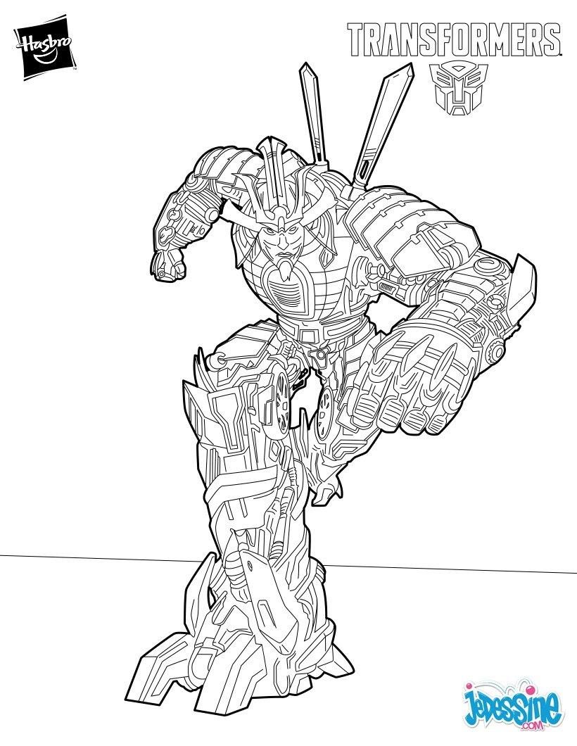 Grimlock le chef des Dinobots Coloriage Drift