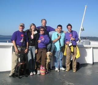 Sendero crew on the ferry to Vancouver