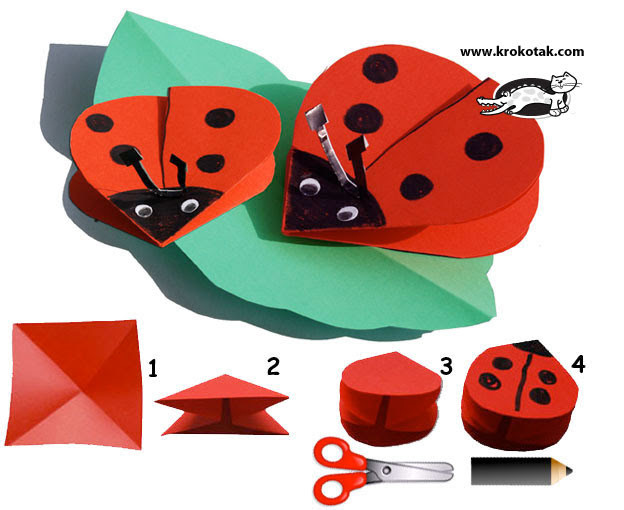 Paper-LADYBIRDS kids craft