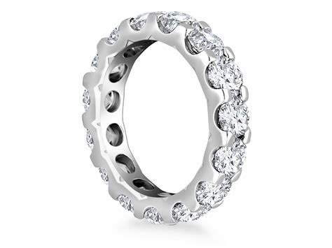 diamond adorned eternity ring   white gold