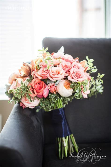 A Coral And Navy Wedding At One King West   Rachel A