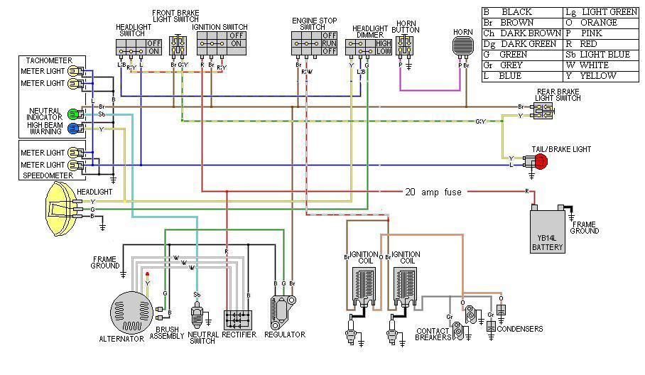Xs650 Simplified Wiring Harnes