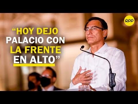 """🔴¡EN VIVO! Martín Vizcarra: """"hoy dejo Palacio de Gobierno con la frente ..."""
