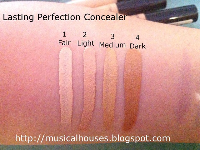 Collection Cosmetics Lasting Perfection Concealer Swatches
