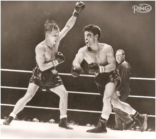 Image result for rocky graziano tony zale fight