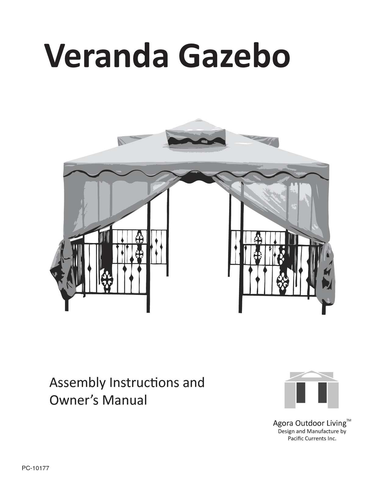 Calaméo Veranda Gazebo Assembly Manual