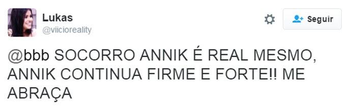 Twitter Ana Paula annik (Foto: Gshow)