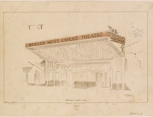 Studio Theatre, Hollywood - architectural plan