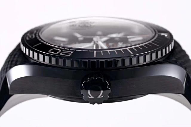 Replica Omega Deep Black Ceramic Crown