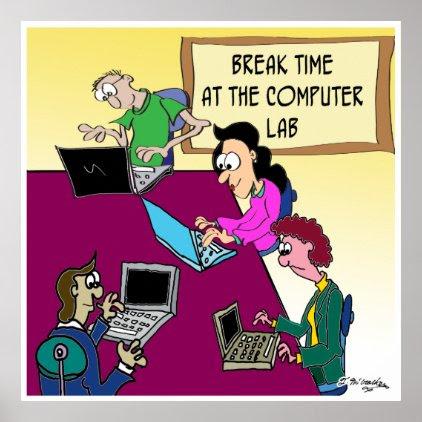 Computer Cartoon 8987 Poster