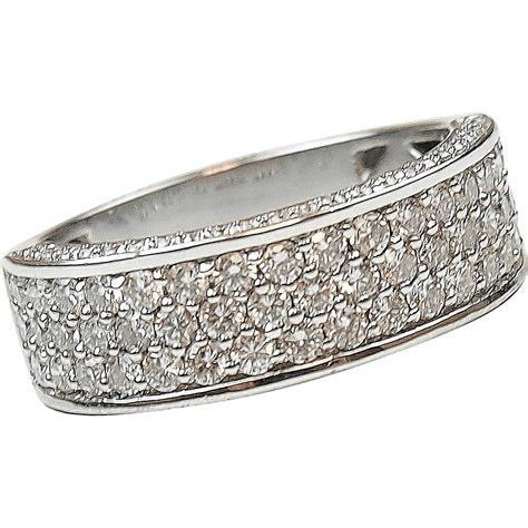 1.08 ctw Diamond Pave Band Ring 14k White Gold   Arnold