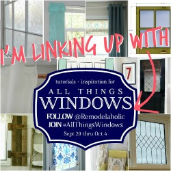 Join #AllThingsWindows at Remodelaholic.com