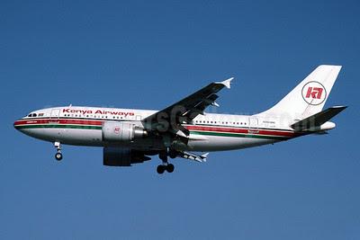 Kenya Airways Airbus A310-304 5Y-BEN (msn 426) LHR (Richard Vandervord). Image: 902558.