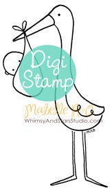 Instant Download Digi Stamp: Sweet Arrival