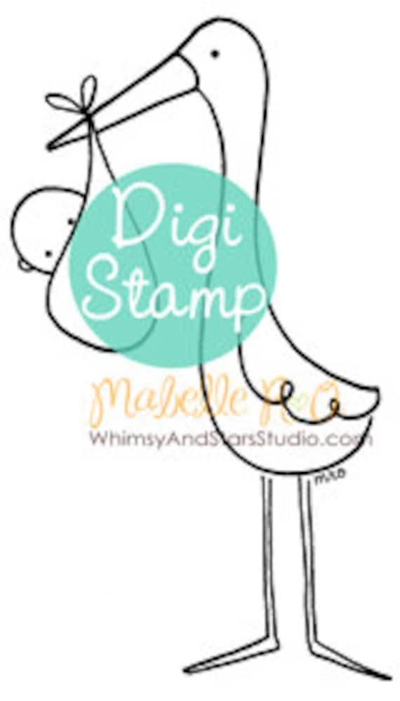 Instant Download Digi Stamp: Sweet Arrival