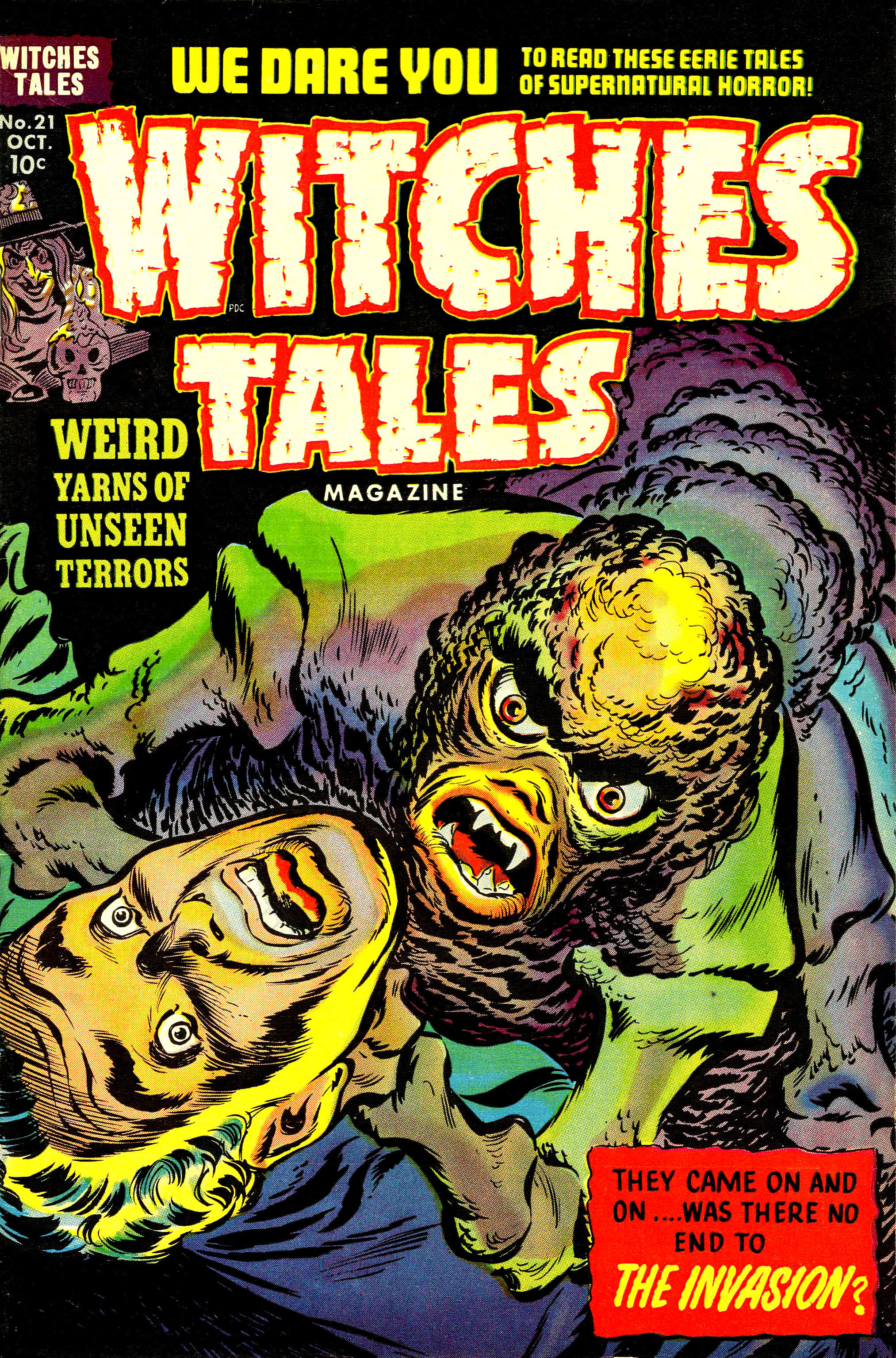 Witches Tales #21, Warren Kremer, Lee Elias Cover (Harvey, 1953)