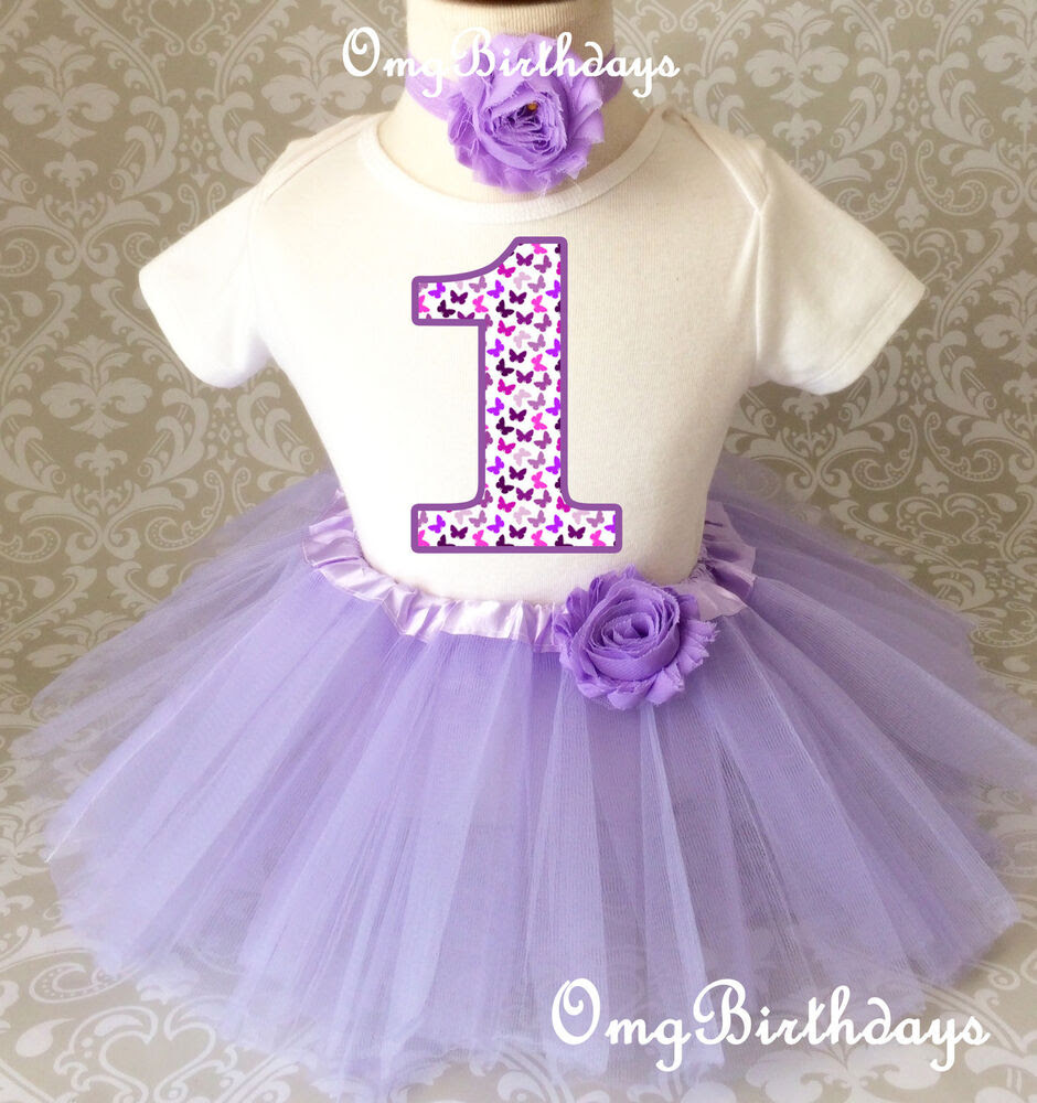 purple lavender butterfly baby girl 1st first birthday