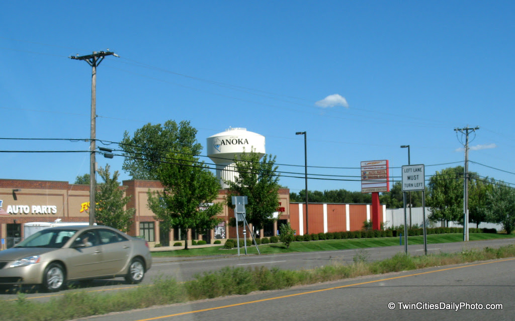 You can find this water tower along Highway 10 in Anoka.